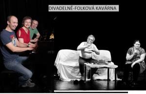 Plakát Divadelně-folková kavárna