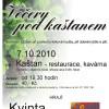 """Plakát """"Večery pod kaštanem"""" - říjen 2010"""